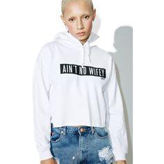 Dimepiece ANW Cropped Hoodie ($56) ❤ liked on Polyvore featuring tops, hoodies, dimepiece, cropped hoodies, hoodie crop top, cropped hooded sweatshirt and cropped hoodie
