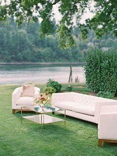 Bridalbliss.com | Portland Wedding Planner | Oregon Event Design | Sweetlife Photography Soft Seating, Lounge Seating, Lounge Sofa, Lounge Party, Velvet Couch, White Bar, Chiavari Chairs, Floral Backdrop, Creative Photos