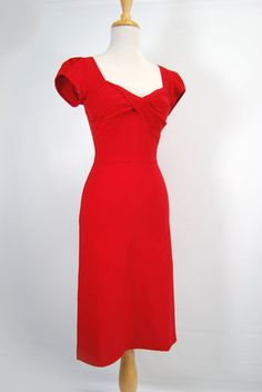 Stop Staring 1930's Red Dress