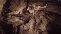 Herbert Draper �013 The Lament for Icarus | 15 Classical Paintings As Beautiful Gifs