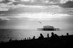 Brighton beach, UK.