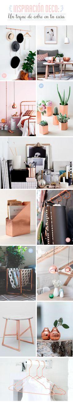 Un toque de cobre para tu casa #home #decor