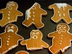 injured gingerbread cookies- medical emergency!