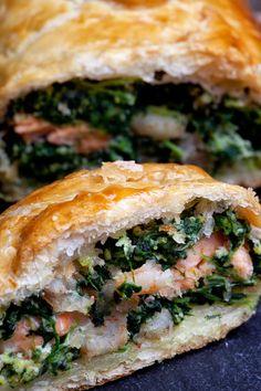Mis Lutier: Hojaldre de salmón y espinacas