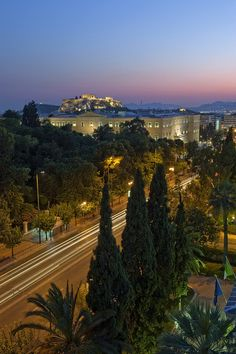 the Greek Parliament and the Acropolis, Athens, Greece