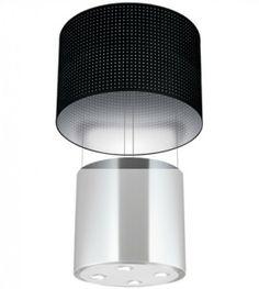 Hotte ilot central tube noir hotte cylindre puissante silencieuse et design d couvrir sur - Calcul debit hotte cuisine ouverte ...