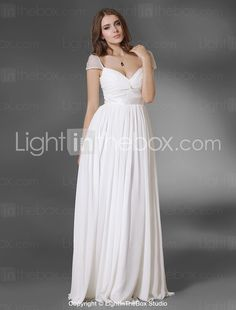 Angle Hair for less? Chiffon A-line Floor-length Evening Dress - USD $ 136.49
