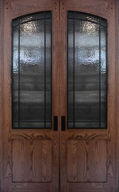 Pair of Oak Doors, x with Metal Grilles and Rain Glass , Ready to Ship Rustic Kitchen Island, Barn Wood Projects, Have Metal, Custom Made Furniture, Oak Doors, Sliding Barn Door Hardware, Reclaimed Barn Wood, Double Doors, This Or That Questions
