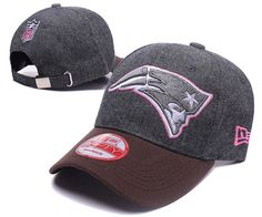 New England Patriots NFL Baseball Caps Charcoal Gray/Pink Curved Brim Hats|only US$6.00 - follow me to pick up couopons.