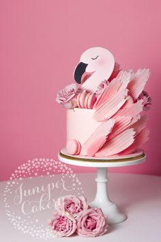 Pretty in pink flamingo cake by Juniper Cakery