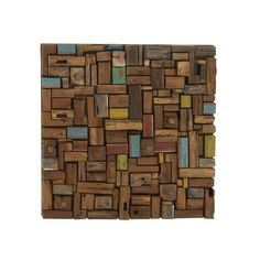 Have a look at this wonderful wooden wall decor that exhibits creativity.  Made from quality materials this wall decor has promising durability.