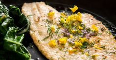 Snip off the flowering tops of herbs to make a colorful compound butter for fish, chicken, vegetables or toast.