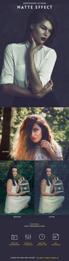Matte - Photoshop Photo Action #photoeffect Download: http://graphicriver.net/item/matte-action/13947914?ref=ksioks