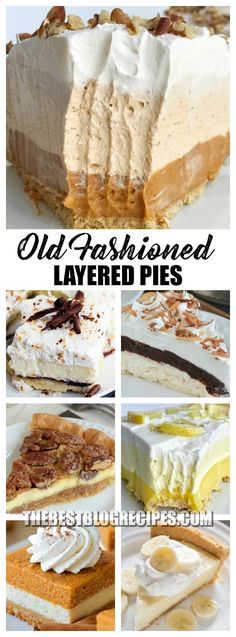 Old Fashioned Layered Pies Just like your Grandma made have been made for generations dating back to the 1950's! With a few modern modifications these easy recipes are the perfect dessert for busy families. via @bestblogrecipes