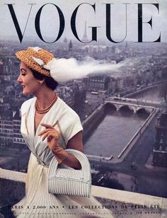 The rooftops of Paris, French Vogue June 1951, cover by Robert Doisneau