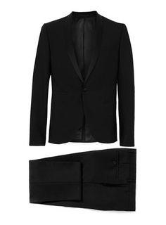 Black Jacquard Skinny Two-Piece Tux || Topman
