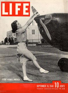 1940 Life Magazine Flight Across America Original Cover