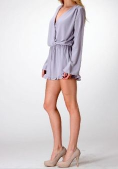 BohoPink - Honey Punch Long Sleeve Romper With Ruffle Trim, $42.00 (http://www.bohopink.com/honey-punch-long-sleeve-romper-with-ruffle-trim/)