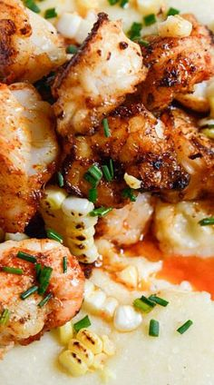 Gouda Grits with Smoky Brown Butter Shrimp