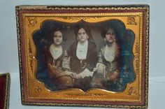 Tintype Daguerreotype of Three Beautiful Young Women 1853 Age 19 | eBay