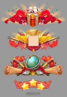 Game icons on Behance