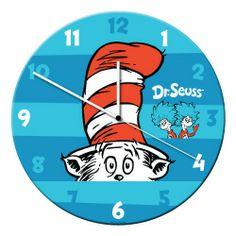 """Vandor - Dr. Seuss™ 13.5"""" Cordless Wood Wall Clock"""