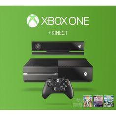 -/*BRAND NEW*\- MICROSOFT Xbox One 500GB Three Game Kinect Bundle - Black! #Microsoft