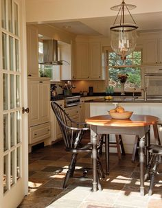 Would love to have French doors coming off my kitchen to a little patio someday.