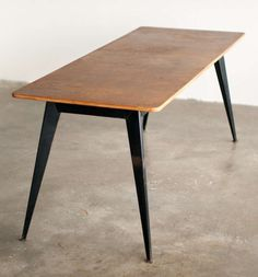Work Table/dining Table, Designed By Willy Van Der Meeren For Tubax. | From a unique collection of antique and modern dining room tables at http://www.1stdibs.com/furniture/tables/dining-room-tables/