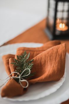 Burnt orange weddings Orange wedding Wedding linens Sage wedding Wedding napkins Wedding palette - Sage is a natural pastel to use as part of your wedding thought sometimes overlooked by other mo - Orange Wedding Themes, Burnt Orange Weddings, Wedding Orange, Burnt Orange Decor, Green Weddings, Romantic Weddings, Autum Wedding, Wedding Flowers, Orange Party