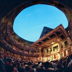 This is a picture of the Globe Theater in London. It was built in 1599 and was established by William Shakespeare. Many of his plays were performed here. It was burnt down in 1613 when a theatrical cannon misfired during a performance. Oh The Places You'll Go, Places To Travel, Places To Visit, Globe Theater, To Infinity And Beyond, London Calling, Leeds, London England, William Shakespeare
