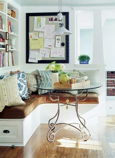 banquette in Cobi Ladner's kitchen