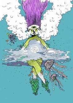 23 / Valeria Reynoso / Locura / from: La vuelta al mes en 30 ilustradores