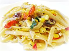 Summer Fettuccine with roasted corn??? Sounds yummy!