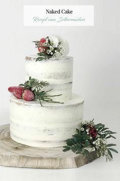 Boho Wedding Cake - Naked Cake Hochzeitstorte. Das ausführliche Rezept inkl. Schritt-für-Schritt Anleitung mit vielen Bildern und Backtipps findet ihr auf dem Blog. Viel Spaß beim Nachbacken :-) #hochzeitstorte #nakedcake #weddingcake
