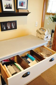 pressing station drawer with dividers