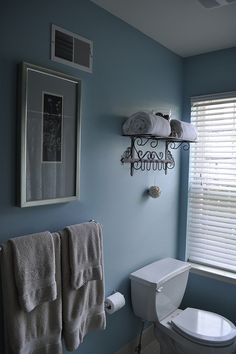 Before (Townhouse Guest Bath) - paint a light stoney gray color