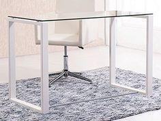 Diy Storage Trunk, Office Decor, Home Office, Bedroom Desk, Metal Furniture, Room Inspiration, Modern Decor, Interior Design, My Room