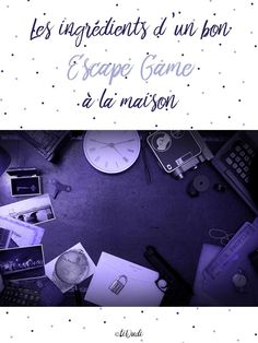 Les ingrédients pour un bon Escape Game à la maison Escape Room Diy, Bear Grylls Survival, Spy Birthday Parties, Survival Items, Urban Survival, Survival Gear, Game Themes, Camping Guide, Gifts For Photographers