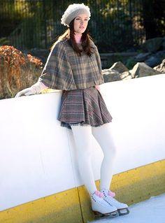 Blair Waldorf @ a Skating Rink