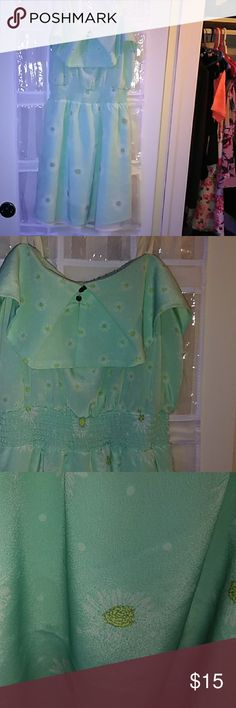 BLUE STRAPPED SUNFLOWER DRESS Only worn one time.  Need gone ASAP.  In amazing condition. Xhilaration Dresses Mini