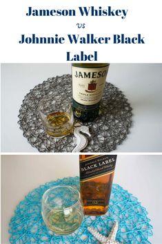 Side by Side: Jameson vs Johnnie Walker Black Label Whisky Comparison Jameson Irish Whiskey, Bourbon Whiskey, Blended Whisky, Whisky Tasting, Malt Whisky, Scotch, Alcoholic Drinks, Label, Notes