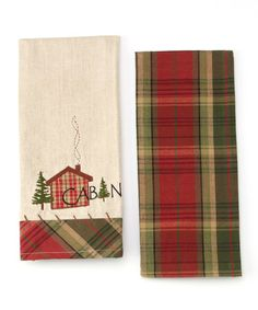 Take a look at this Cabin Fever Dish Towel Set by Design Imports on #zulily today!