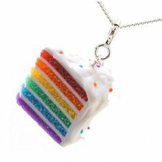 Rainbow Cake Necklace at Shana Logic.