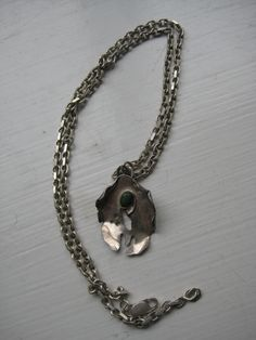 Pendant - silver and malakit by Sophia Aisinger