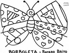Atividades para colorir: Desenhos do Romero Britto
