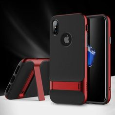 Kickstand Case for iPhone X - Gold,Red,Dark Blue,Grey  Awesome iPhone 10 iPhone X Apple Products link website cases awesome products shops store buy for sale website online shopping free shipping accessories  phone covers beautiful gifts ideas Mens Womens http://iphonexfree.net/23393/