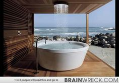 Bathtub  overlooking sea