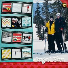 Love the filmstrips  never thought of putting scrapbk paper in the slots along with pics. Like!