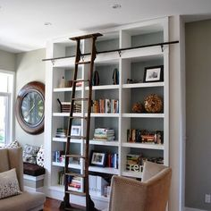 Side By Side Bookshelves Design, Pictures, Remodel, Decor and Ideas - page 14